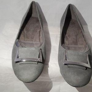Aerosoles women gray Suede Shoes